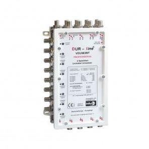 DUR-line VDU 983NT Uni-Ein-Kabel-System | 2 Satelliten | 8 Ableitungen für je 3 Teilnehmer