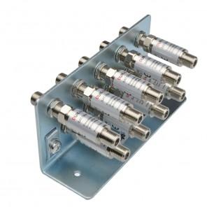 DUR-line Erdungsschiene 9-fach + 9x Blitzschutz DLBS 3001 Überspannungsschutz