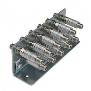 DUR-line Erdungsschiene 11-fach + 11x Blitzschutz DLBS 3001 Überspannungsschutz