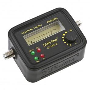 DUR-line SF 2450 Sat-Finder/-Messgerät schwarz mit LED-Anzeige mit Gummi-Schutzhülle