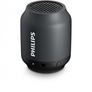 Philips BT 50 grau/schwarz tragbarer kabelloser Bluetooth Lautsprecher