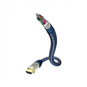 In-akustik Premium High-Speed HDMI-Kabel 2,0m blau | Ethernet, 3D, 4K, ARC