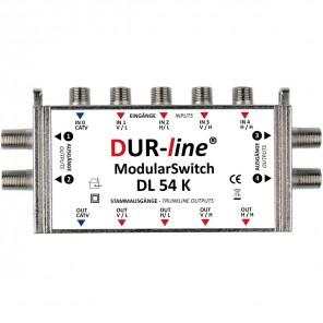 DUR-line DL54K Kaskade Multischalter Modulsystem | 4 Teilnehmer, erweiterbar