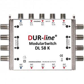 DUR-line DL58K Kaskade Multischalter Modulsystem | 8 Teilnehmer, erweiterbar