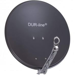DUR-line Select 60/65 Alu Sat-Schüssel anthrazit | Vollaluminium Sat Spiegel 60cmx65cm | B-Ware