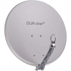 DUR-line Select 60/65 Alu Sat-Schüssel hellgrau | Vollaluminium Sat Spiegel 60cmx65cm