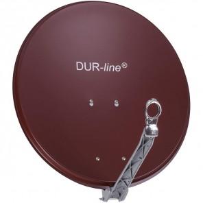DUR-line Select 60/65 Alu Sat-Schüssel ziegelrot | Vollaluminium Sat Spiegel 60cmx65cm | B-Ware