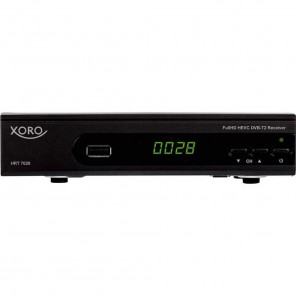 Xoro HRT 7620 SMART DVB-T2 HD Receiver schwarz | FullHD H.265/HEVC DVB-T2 Receiver, PVR-ready, unterstützt Alexa/Google Home