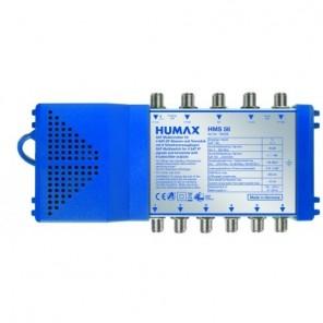 Humax HMS 5/6 Sat Multischalter 6 Teilnehmer | Netzteil mit Standby-Funktion, Quattro- und Quad-LNB tauglich, Digital, HDTV, FullHD, 4K, UHD
