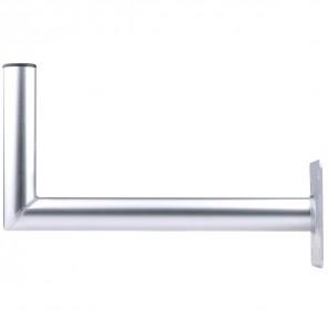 DUR-line WHA 45 Aluminium Winkelwandhalter für Sat-Antennen | 450mm Wandabstand, 250mm Länge, 48mm ø