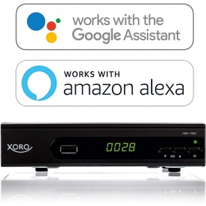 Xoro HRK 7660 SMART HD Kabelreceiver schwarz (Alexa, Google Home) | DVB-C Receiver, HDTV, 1080p, HDMI, SCART, PVR-ready
