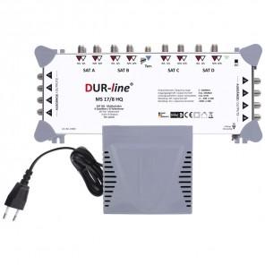DUR-line MS 17/8 HQ Sat Multischalter 8 Teilnehmer, 4 Satelliten | Digital, HDTV, FullHD, 4K, UHD