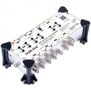 DUR-line MSV 1313 HQ Linienverstärker/Einspeiseverstärker für 12 Sat-Leitungen, 3 Satelliten