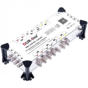 DUR-line MSK 13/8 HQ Sat Multischalter Kaskade 8 Teilnehmer | 3 Satelliten, HDTV-, 4K-, 3D-tauglich