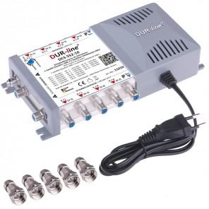 DUR-line DCS 552-16 Sat Einkabellösung 2x 16 Teilnehmer | Sat Einkabel Multischalter, Quattro- und Wideband-fähig, Digital, HDTV, FullHD, 4K, UHD