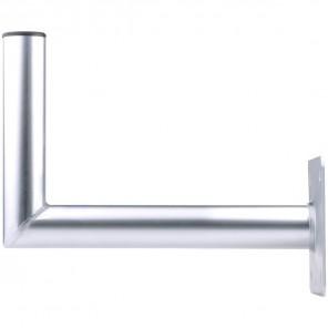 DUR-line WHA 35 Winkel-Wandhalter Aluminium | 35cm Wandabstand, 50mm Rohrdurchmesser, Sat Schüssel Halterung