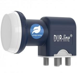 DUR-line Blue ECO Quad LNB 4 Teilnehmer | Stromspar-LNB 4fach, digital, Full HD, 4K, 3D, Premium-Qualität